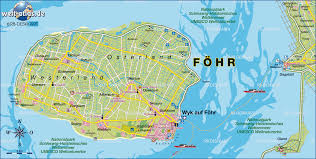 Picture Of Map Map Of Föhr Germany Schleswig Holstein Map In The Atlas Of