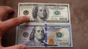 comparing the 100 us dollar oct 2013 with the 100 bill