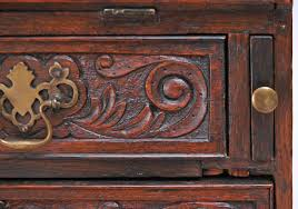georgian fall front secretary desk in carved oak england circa