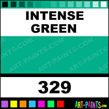 Best Color Codes by Intense Green Artist Watercolor Paints 329 Intense Green Paint