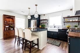 houzz blue kitchen cabinets hgtv modern farmhouse marine blue kitchen farmhouse