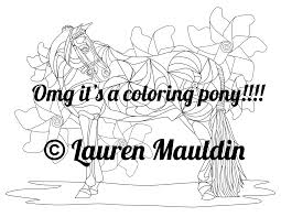 horse coloring book pages u2013 nerd horse etsy shop she