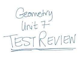 geometry unit 7 test review math geometry polygons