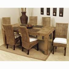 Bamboo Dining Table Set Dining Room Furniture Dining Table Set Faux Bamboo
