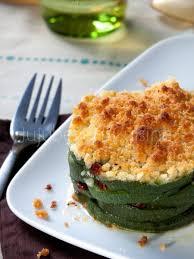 cuisine courgettes recette de crumble salé courgette tomates séchées et parmesan