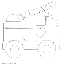 simple fire truck coloring pages for toddlers