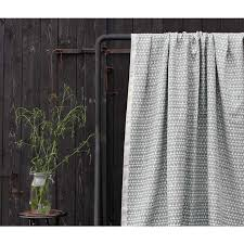 Natural Linen Curtain Fabric Siru Grey Grey Patterned Linen Fabric