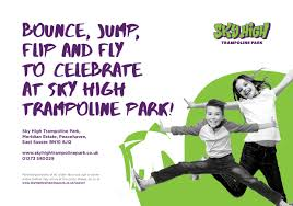 trampoline invitations party invitations sky high