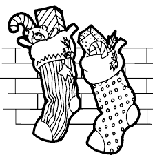 coloring christmas socks coloring pages 8