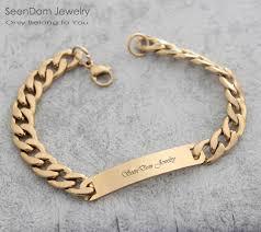 bracelet with name images Custom personalized name engraved cowboy men bracelet customize jpg