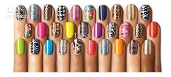 new mix design color 3d nail art sticker tip decal different