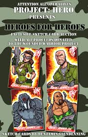 project hero g i joe sketch cards by skulljammer on deviantart