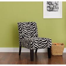 Zebra Accent Chair Hometrends Accent Chair Zebra Print Walmart