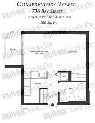 Bachelor Apartment Floor Plan by Conservatory Tower Toronto Remax Condos Plus