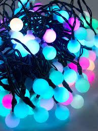 100 led bulb auto multi colour changing spheres 10m christmas