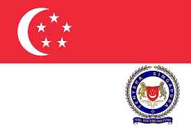 Army Service Flag Singapore Armed Forces