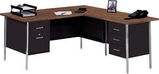 Corner Wood Desk Corner Black Wooden Desk With Brown Wooden Top And Drawers Also