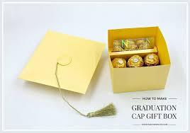 graduation box graduation cap gift box with gift card holder insert
