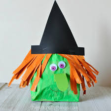 Fun Halloween Crafts - stuffed paper bag witch craft i heart crafty things