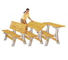 picnic table converts to bench kit lets you diy your own converting bench table