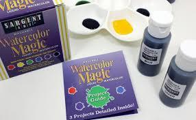 amazon com sargent art 22 6022 6 count 1 ounce watercolor magic kit