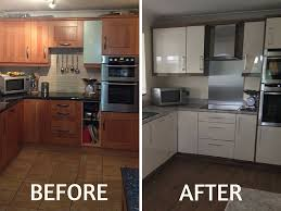 Replacement Cabinets Doors Reface Kitchen Cabinets Before And After Unfinished Cabinet Doors