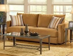 Orange Pillows For Sofa by Cognac Fabric Sofa U0026 Loveseat Set W Hula Hoop Pillows