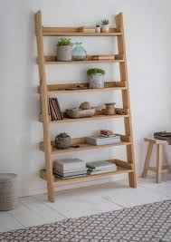 Oak Ladder Bookcase by Raw Oak Ladder Bookshelf Large
