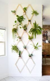diy wood and leather trellis plant wall plant wall diy wood and