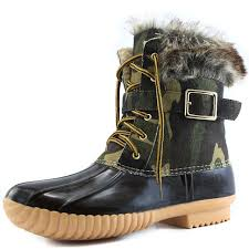 women u0027s snow booties up ankle buckle duck padded mud rubber rain