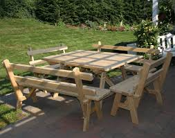 Plans For A Picnic Table With Separate Benches by Patio And Picnic Tables Fifthroom Com