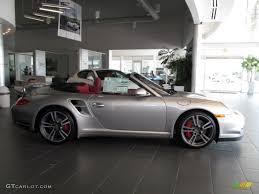 silver porsche convertible platinum silver metallic 2012 porsche 911 turbo cabriolet exterior