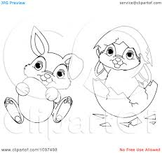 cute bunny drawing clipart outlined easter drawings of bunnies