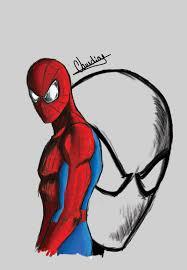 spiderman sketch c by claudiojose on deviantart