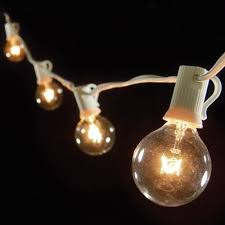 Light Bulb String Outdoor Outdoor Bulb String Lights White Green