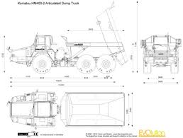 the blueprints com vector drawing komatsu hm400 2 articulated