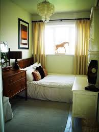 small apartment bedroom design brown laminated bed frame bedside