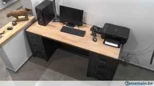 bureau stylé bureau metal industriel gallery of bureau industriel en bois et