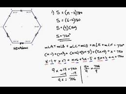 What Is The Sum Of Interior Angles Of A Octagon Interior Angle Formula Applied To Irregular Hexagon Youtube