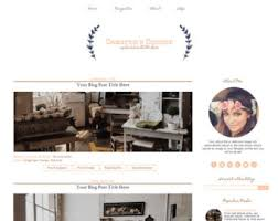 Shabby Chic Website Templates by Responsive Premade Blogger Template Clean Blog Design