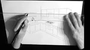 dessiner une cuisine en 3d dessin cuisine en perspective