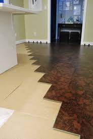 how to install a floating cork floor house