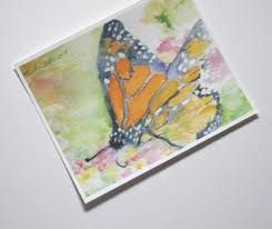 monarch butterfly print watercolor art picture first paper