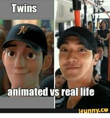 Meme Real Life - twins animated vs real life ifunnyc3 real life meme on esmemes com