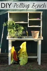 Plant Bench Plans - d i y refurbished potting bench little us