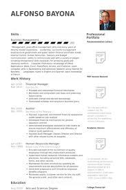 financial manager resume samples visualcv resume samples database