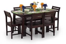buy large stylish dining table set online wooden dining set for 6