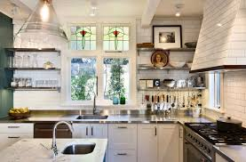 Traditional Kitchens With White Cabinets - 27 kitchens with open shelving