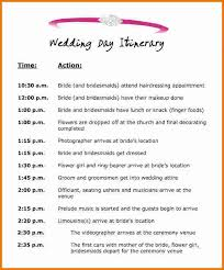 wedding itinerary template for guests 4 wedding itinerary template free expense report