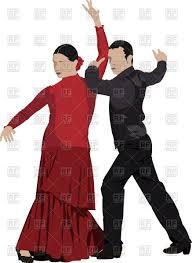 couple of flamenco dancers vector image 52584 u2013 rfclipart
